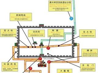 【西安城墙 观光车图片】西安城墙图片